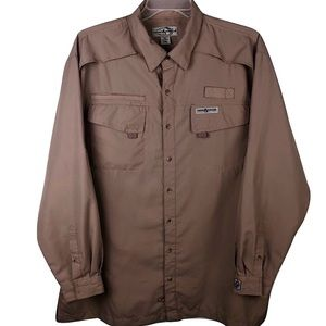 Hook & Tackle Fishing Shirt High Tech 2XL Brown